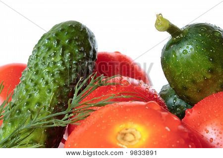Vegetables With Drops