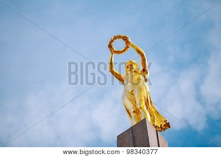Monument of Remembrance Gelle Fra or Golden Lady is a war memorial