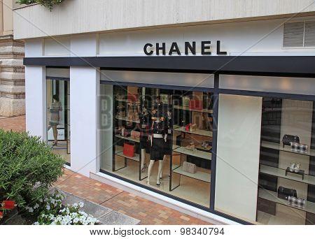 Elegant Luxury Chanel Store, Monte Carlo, Monaco.
