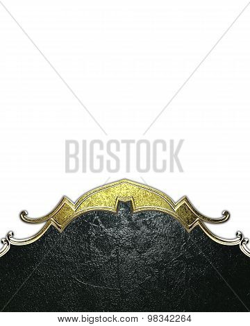 Dark Shabby Background With Gold Edges On A White Background. Element For Design. Template For Desig