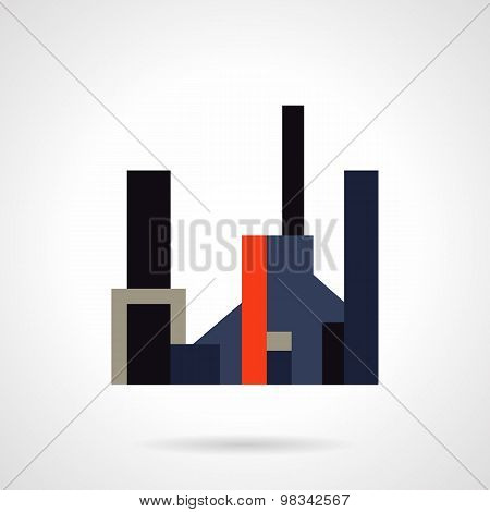 Factory flat color vector icon