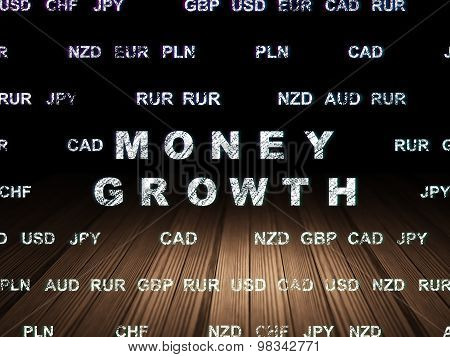 Money concept: Money Growth in grunge dark room