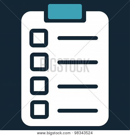 Test task icon from Business Bicolor Set