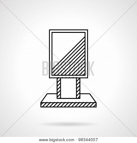 Citylight line vector icon