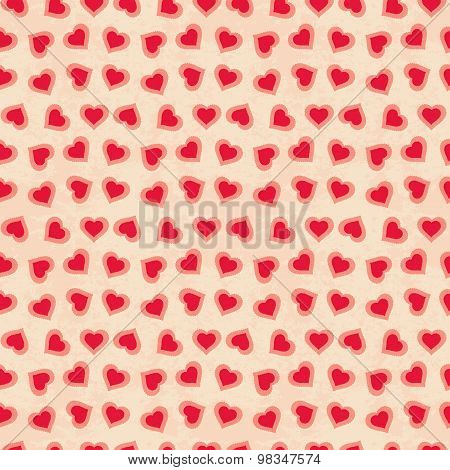 Romantic vector seamless pattern. Cover for Valentines day background design.