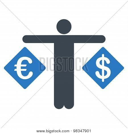 Currency compare icon from Business Bicolor Set