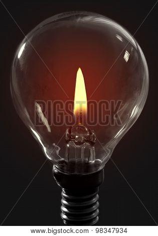 Candle Flame Light Bulb