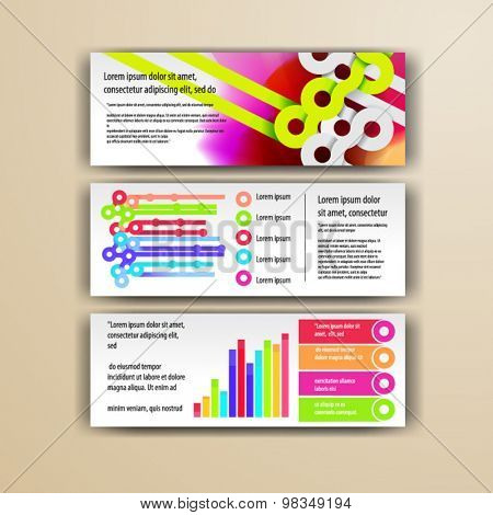 Watercolor brochure template design with circles. Cover layout and infographics