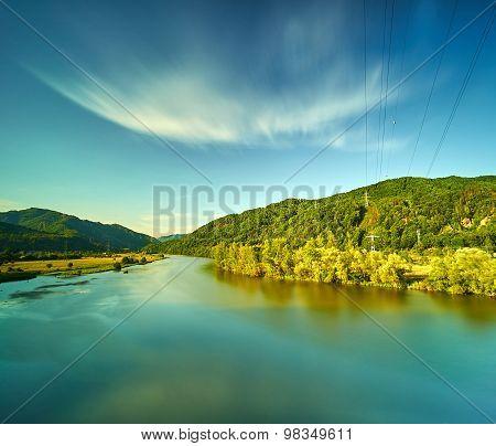 Summer Frozen River