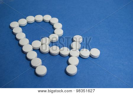RX symbol in white on blue