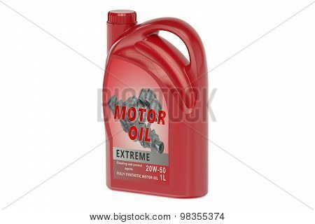 Red Canister Motor Oil 1L