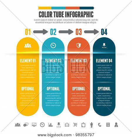 Color Tube Infographic