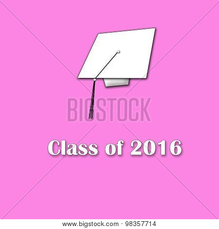 Class of 2016 White on Pink Single Lg