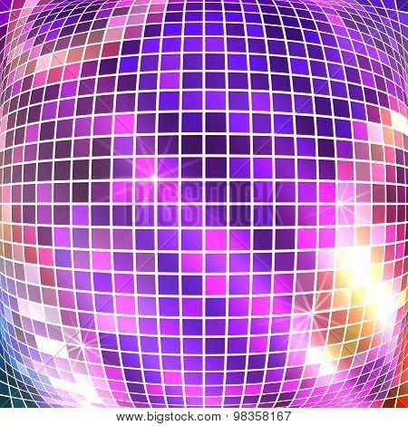 Bright Sparkling Mosaic Squares Disco Ball Convex