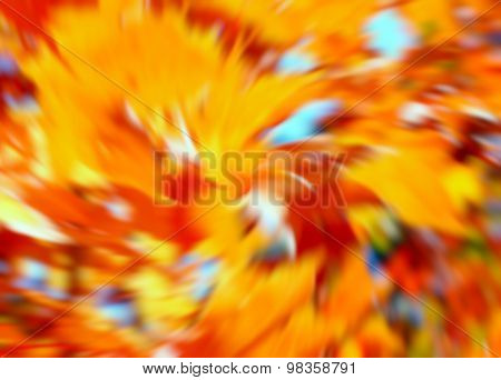 Blurred Autumn Foliage