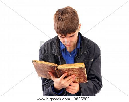 Teenager With The Old Book