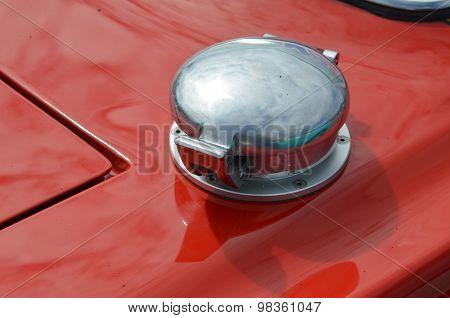 Metal petrol fuel filler cap.
