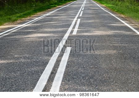Asphalt Road With A White Marking