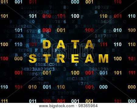 Information concept: Data Stream on Digital background