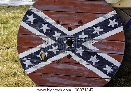 Confederate Flag Table