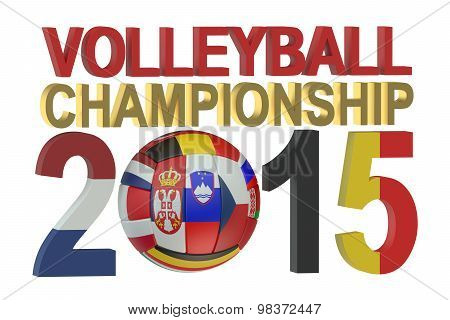 Volleyball European Womens Championship 2015 Concept