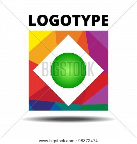 Abstract Ribbon Square logo