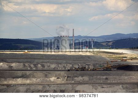 Power Plant With The Coal Mine