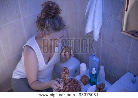 Teenager With Food Addiction