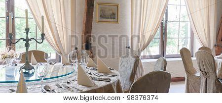 Tableware In Restaurant