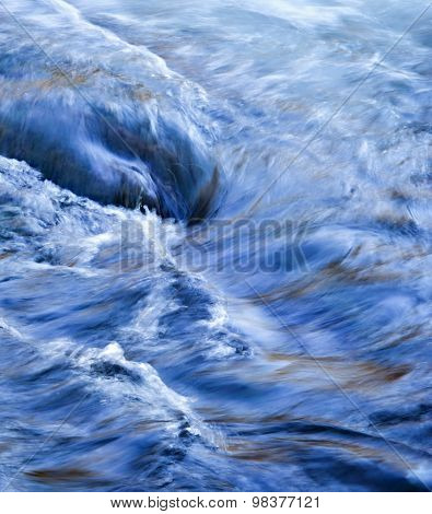 Blue Twisting Wave River
