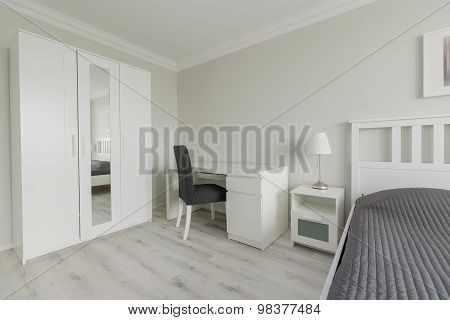 Bedroom Interior With Closet