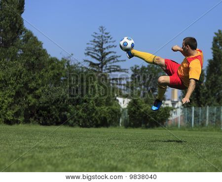 Acrobatic Soccer Player