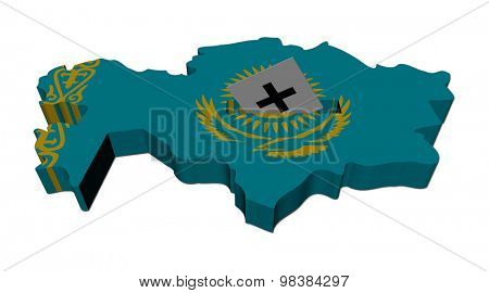 Kazakhstan election map with ballot paper illustration