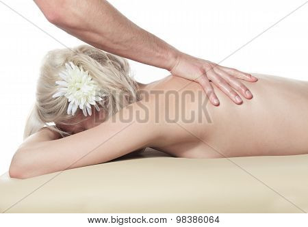 Woman having therapy massage
