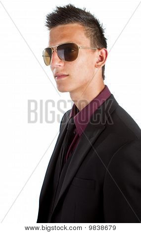 Young Trendy Businessman With Sunglasses
