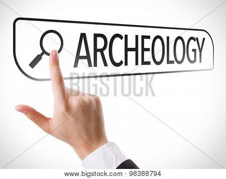 Archeology written in search bar on virtual screen