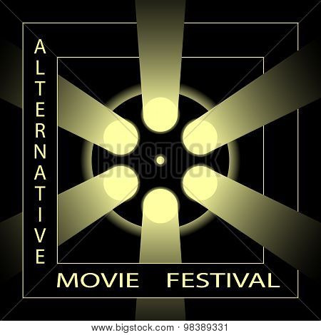 Alternative movie festival, cinema film festival poster template.