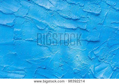 Blue Cement Textured Background.