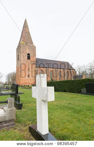Dutch Church in Groningen in village Onstwedde
