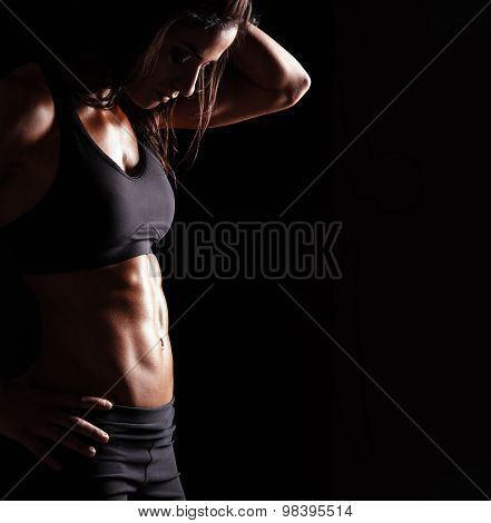 Woman Body With Fit Belly