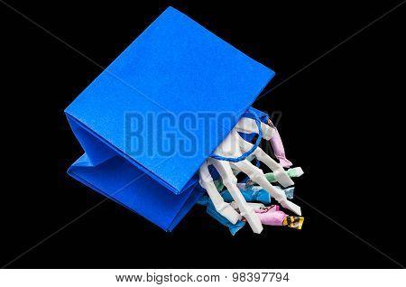 Bone Hand In Trick-or-treat Bags.