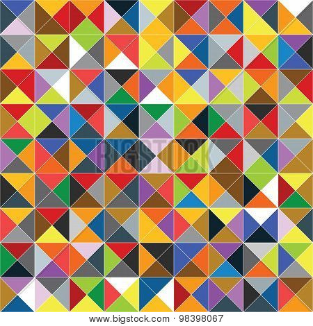 Seamless Geometric Colorful Pattern.  Cmyk Color Mode