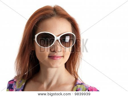 Portrait Of The Beautiful Girl In Sunglasseses