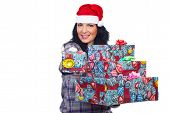 Smiling Woman Give You Christmas Gift