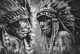 image of indian chief  - Native american indian head - JPG