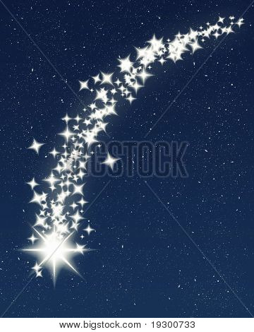 great image of a shooting wishing star for christmas