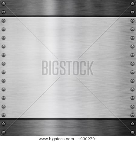 image of a brushed plate metal background
