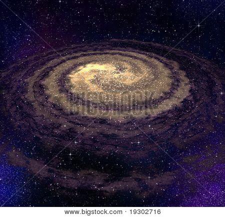 galáxia de vórtice espiral grande no espaço profundo