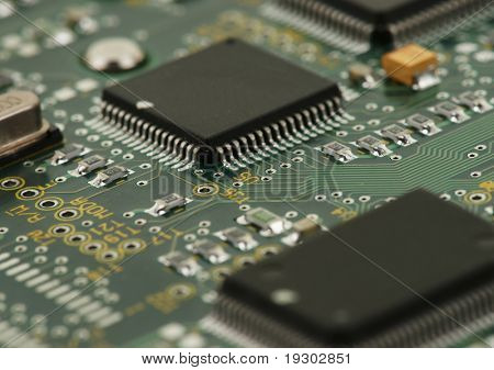 image of integrated circuits and surface mount technology