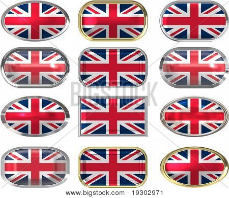 twelve Great buttons of the Flag of the united Kingdom